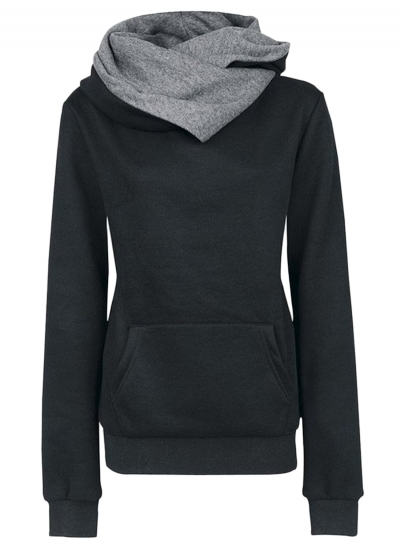 women-s-solid-color-long-sleeve-hooded-sweatshirt